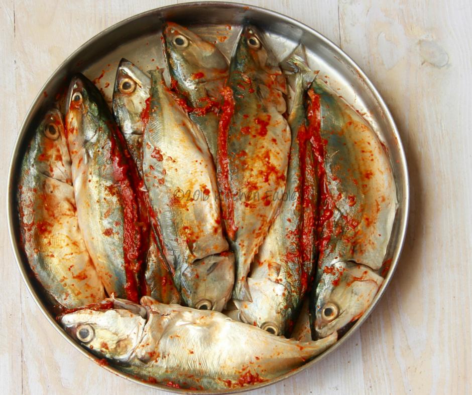 Mackerel fish fry with goan recheado masala recipe for How to cook fried fish